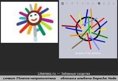 Символика 75 лет метро похожа на обложку Depeche Mode