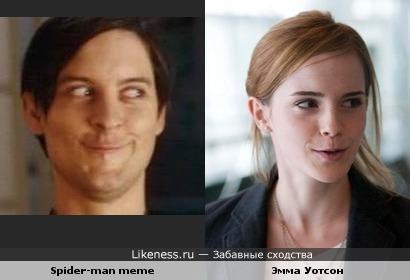 Эмма Уотсон похожа на мем