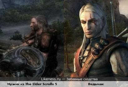 Мужик из трейлера The Elder Scrolls 5 похож на Ведьмака