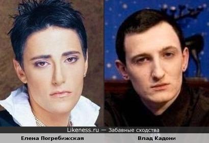 Елена Погребижская похожа на Влада Кадони