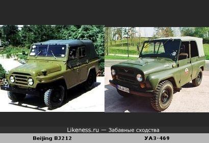 Китайский джип похож на российский УАЗ