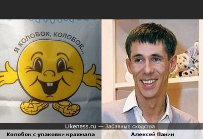 Колобок с упаковки крахмала напомнил Алексея Панина