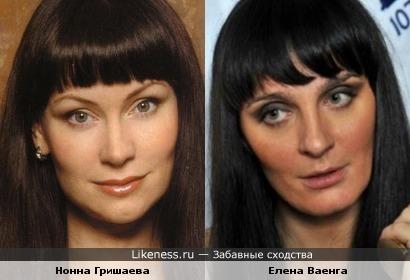 Нонна Гришаева и Елена Ваенга: как будто оригинал и китайская копия