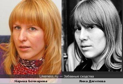 "Марина Бочкарева, известная по КВН и ""Страна в shope"", напомнила Янку Дягилеву"