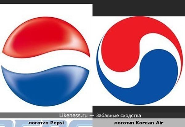 Лого Корейских авиалиний похож на лого Pepsi