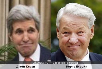 Джон Керри похож на Бориса Ельцина