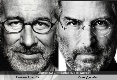 Кинорежиссёр Стивен Спилберг и основатель Apple Стив Джобс