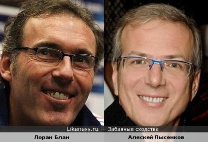 Лоран Блан и Алексей Лысенков