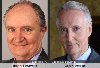 Джим Бродбент и Хью Фрейзер