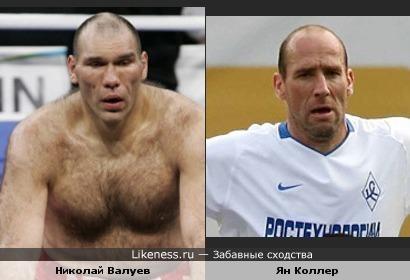 Николай Валуев похож на Яна Коллера