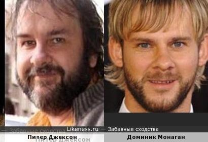 Доминик Монаган и Питер Джексон