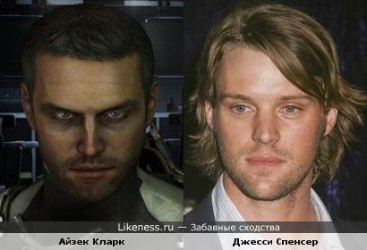 Айзек Кларк (Isaac Clarke) из игры Dead Space 2 похож на Джесси Спенсера (Jesse Spencer)