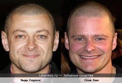 Энди Серкис и Стив Зан похожи