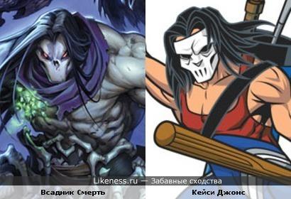 Герой игры Darksiders 2 и персонаж вселенной TNMT похожи