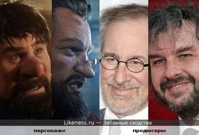 Персонажи фильма и его продюсеры