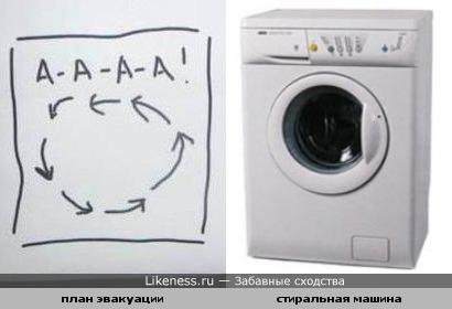 План эвакуации похож на стиральную машину