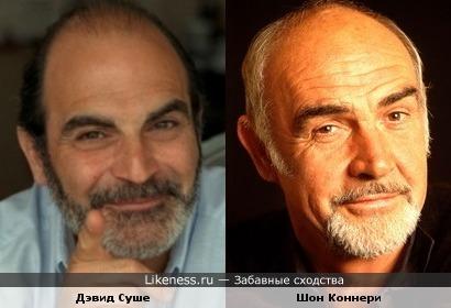 Дэвид Суше и Шон Коннери