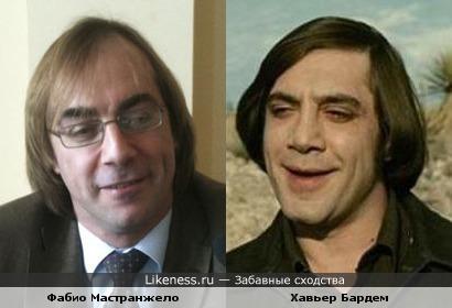 Фабио Мастранжело и Хавьер Бардем