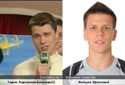 Вратарь Арсенала похож на Гарика Харламова