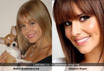 Анна Вишневская похожа на Шерил Коул