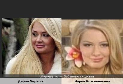 Дарья Черных похожа на Марию Кожевникову