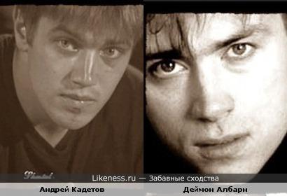 Андрей Кадетов и Деймон Албарн (солист групп Blur, Gorillaz)
