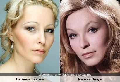 Наталья Панова похожа на Марину Влади