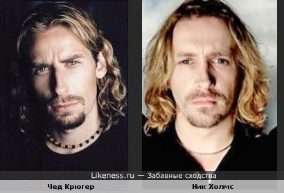 Чед Крюгер (Nickelback) похож на Ника Холмса (Paradise Lost)