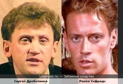 Юморист Сергей Дроботенко похож на порноактера Рокко Сифреди