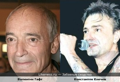 Константин Кинчев похож на Валентина Гафта