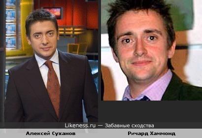 """Ведущий новостей Пятого Канала Алексей Суханов похож на ведущего """"Top Gear"""" Ричарда Хаммонда"""