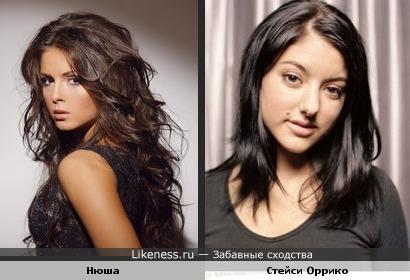 Певицы Нюша и Стейси Оррико очень похожи