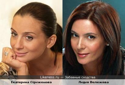 Екатерина Стриженова и Лидия Вележева немного похожи