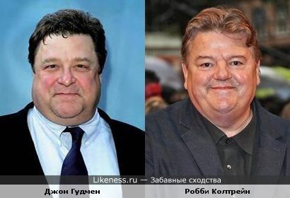 Джон Гудмен и Робби Колтрейн