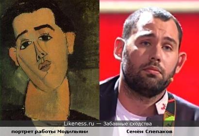 На портрете Хуан Грис похож на Семёна Слепакова