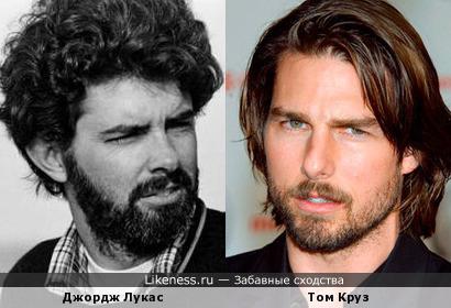 Джордж Лукас и Том Круз