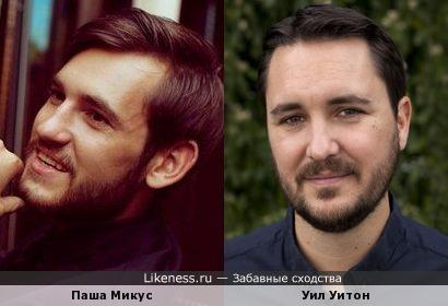 Паша Микус немного похож на Уила Уитона