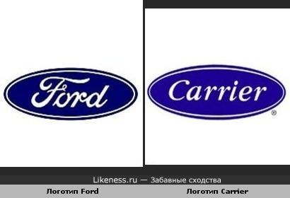 Логотип Ford и Логотип Carrier похожи