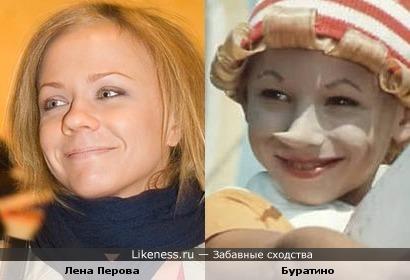 Лена Перова похожа на Буратино