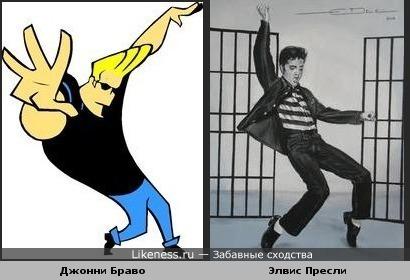 Джонни Браво танцует, причесывается и говорит, как Элвис Пресли