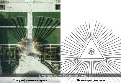 Триумфальная арка на пл.Каррузель и Всевидящее око