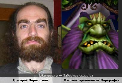 Математик Перельман похож на охотника приливов из игры WarCraft 3