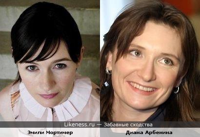Эмили Мортимер похожа на Диану Арбенину