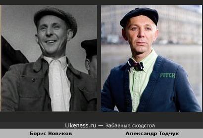 Актер Борис Новиков и стилист Александр Тодчук