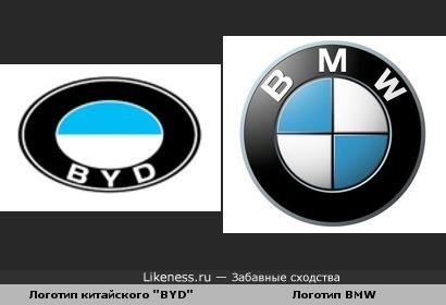 """Логотип """"BYD"""" похож на логотип """"BMW"""""""