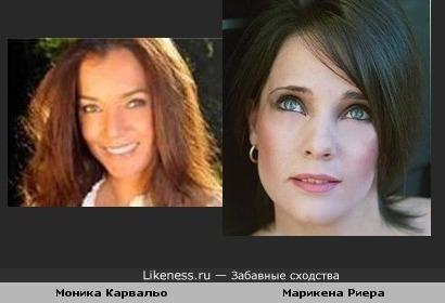 Моника Карвальо(бразильская актриса) и Марикена Риера(аргентинская актриса)
