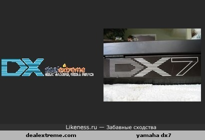 Логотип dealextreme похож на лого синтезатора Yamaha DX7