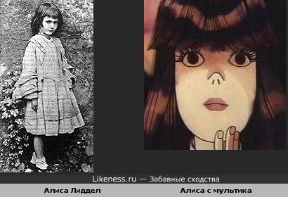 Прототип Алисы похожа на Алису с мультика
