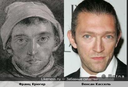 Художник Франц Крюгер и актер Венсан Кассель