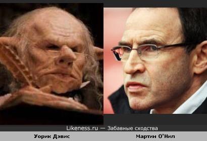 """Работник банка """"Гринготтс"""" гоблин Крюкохват и тренер Мартин О'Нилл"""